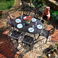 June Table - Antique Bronze (6 seater set)