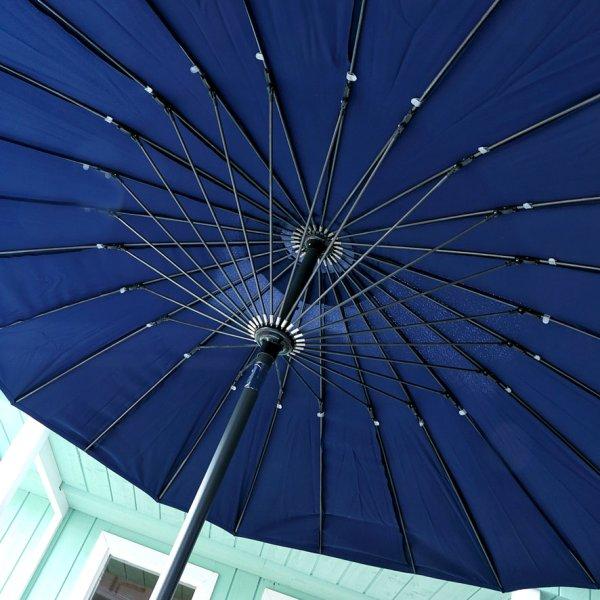 2.5m Blue garden fiberglass parasol 5