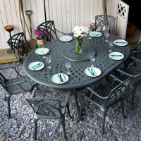 Rosemary Table - Slate (8 seater set)