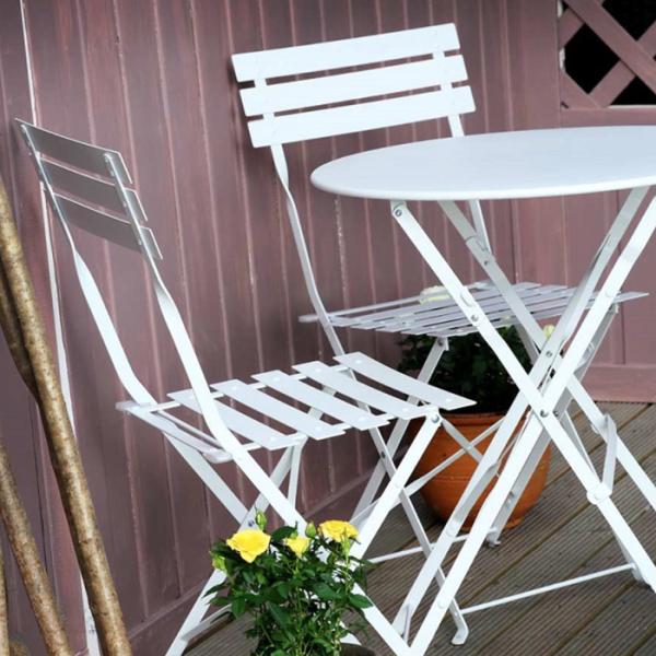 Alessia Bistro Table - White (4 seater set)