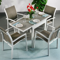 Poppy Table - White & Champagne (4 seater set)