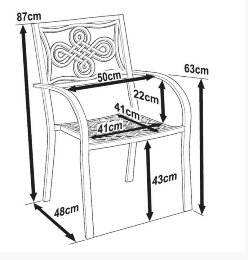 Maria Garden Chair Dimensions