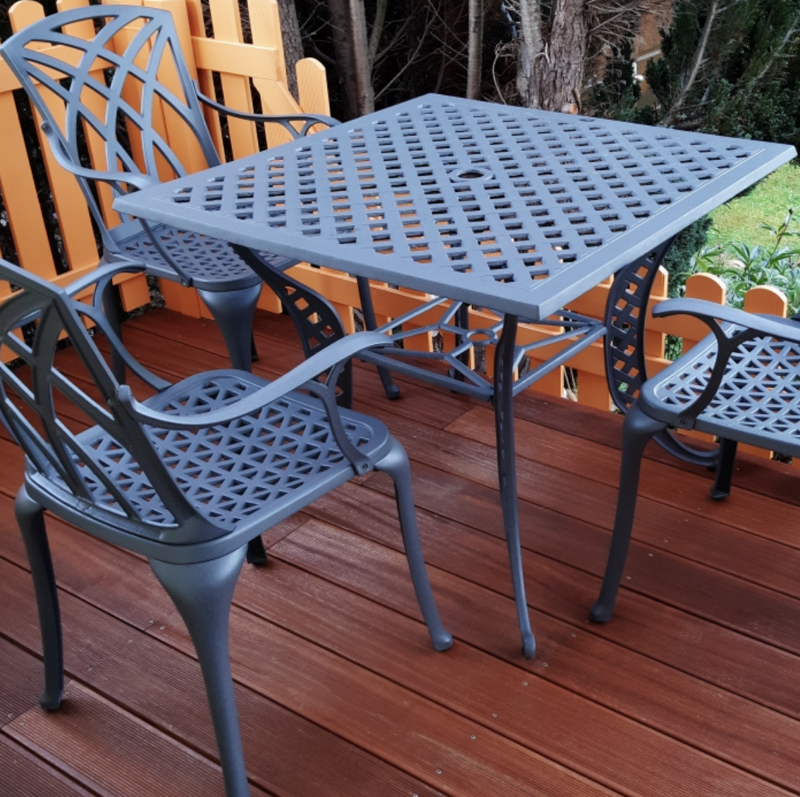 Lucy Square 4 Seater Garden Table