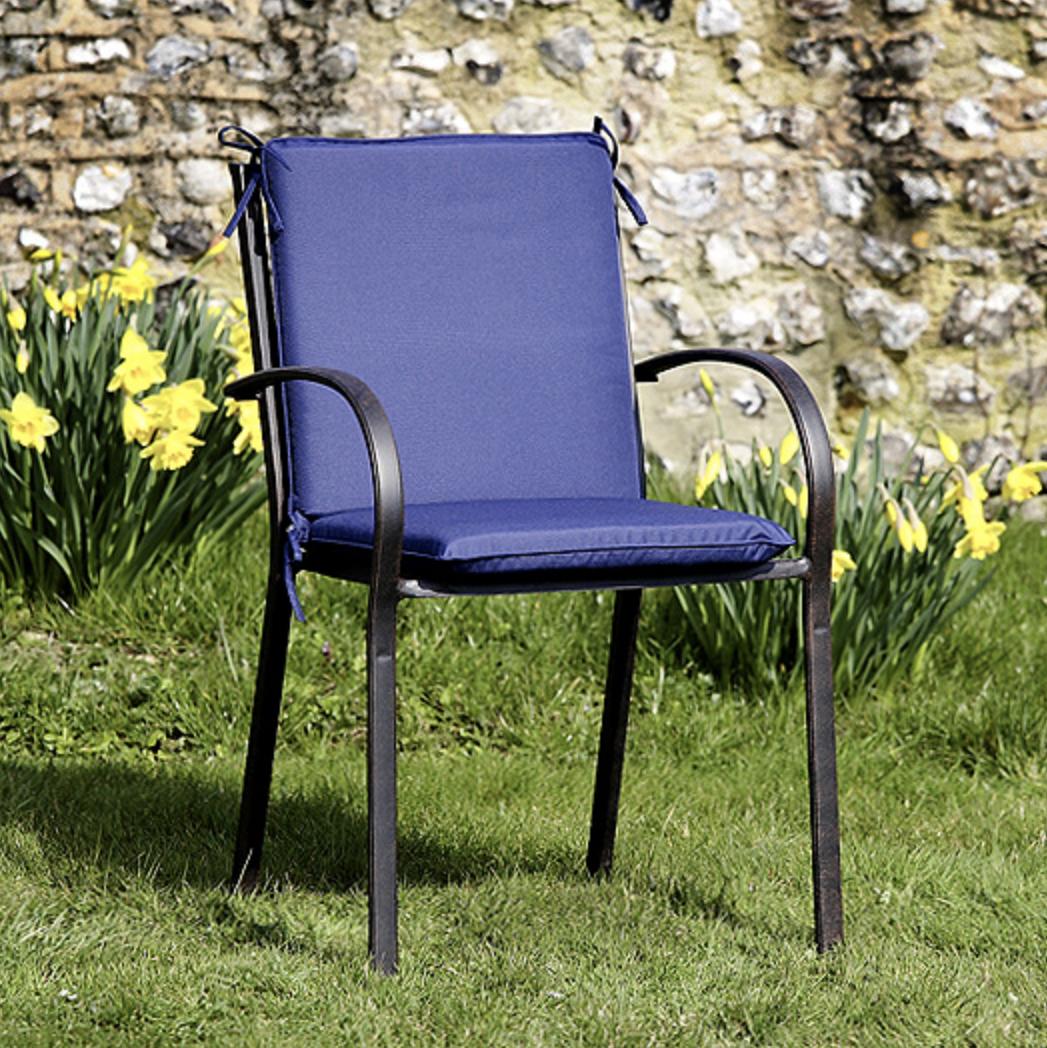 High Back Cushion in Blue