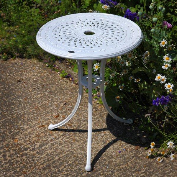 White_Ella_Bistro_Table_Cast_Aluminium_Garden_Furniture_1