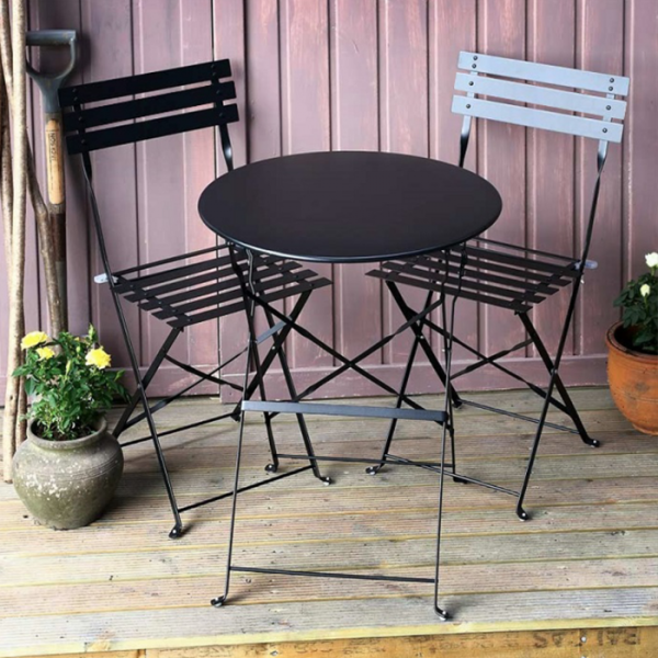 Alessia Bistro Table - Black (2 seater set)