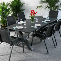 Martha Table - Grey (6 seater set)