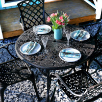Flora Table - Antique Bronze (4 seater set)