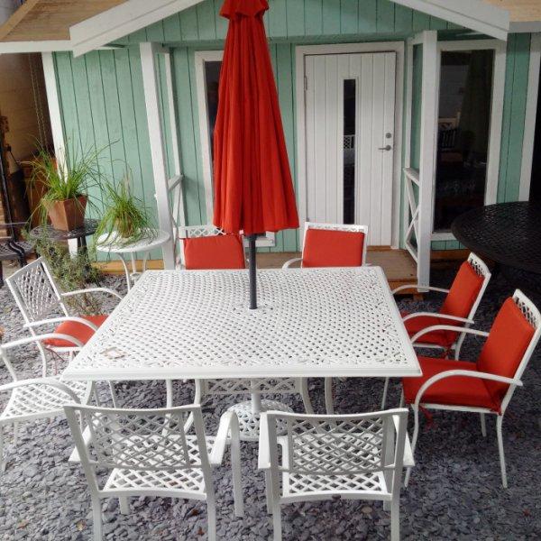 Tanya Table - White (8 seater set)