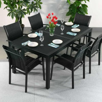 Florence Table - Black (6 seater set)
