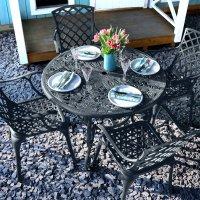 Flora Table - Slate Grey (4 seater set)