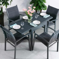 Poppy Table - Grey (4 seater set)