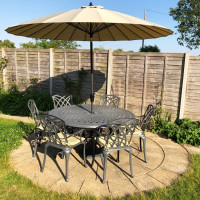 Frances Table - Slate (6 seater set)