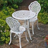 Ivy Bistro Set - White (2 seater set)