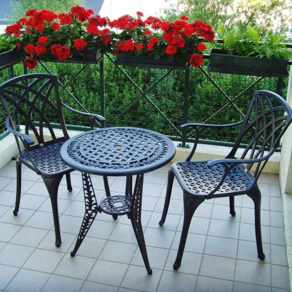 Ivy Bistro Table - Antique Bronze (2 seater set)