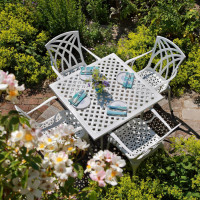 Lucy Table - White (4 seater set)
