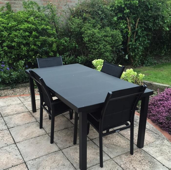 Large_8_Seater_Modern_Black_Automatic_Extension_Dining_Table_Metal_Glass_Garden_Furniture_Set_9
