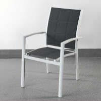 Georgia Chair - White & Grey