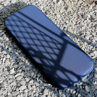 Lattice Bench Cushion - Blue