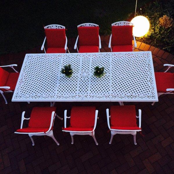 Vanessa Table - White (10 seater set)