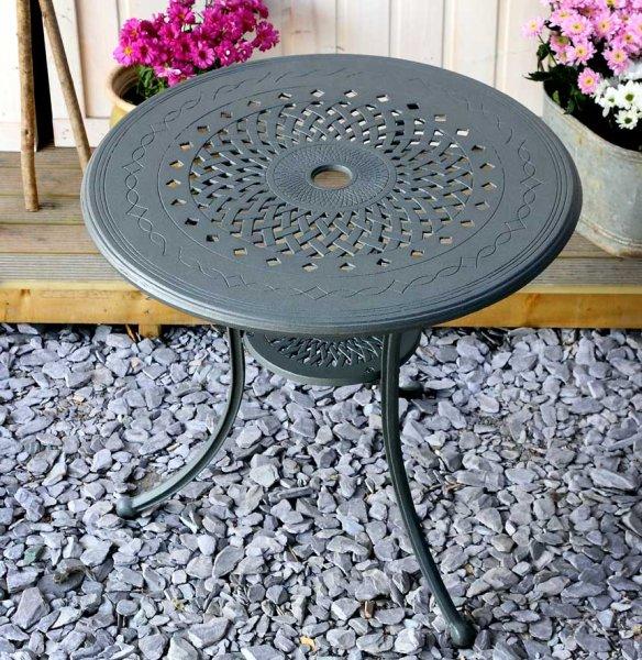 Slate ANNA 80cm Round table