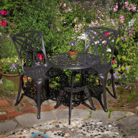 Rose Table Set - Antique Bronze (2 seater set)