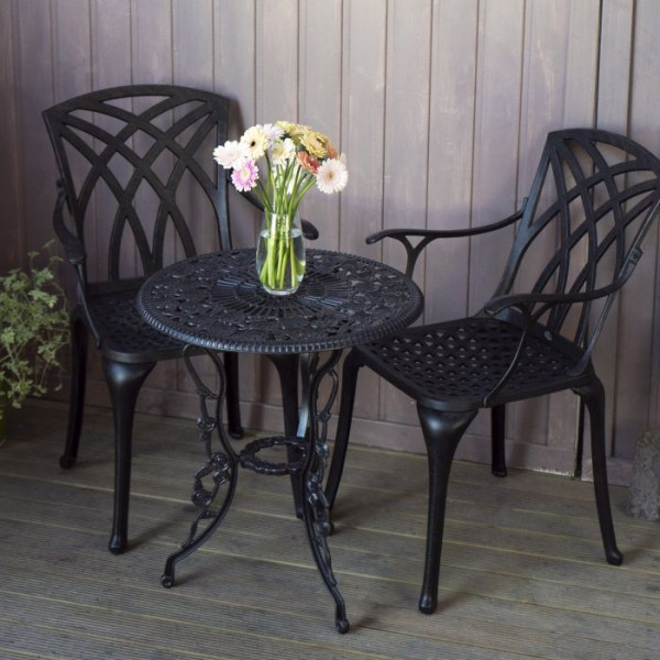 London Rose Bistro Set - Antique Bronze (2 Seater Set)