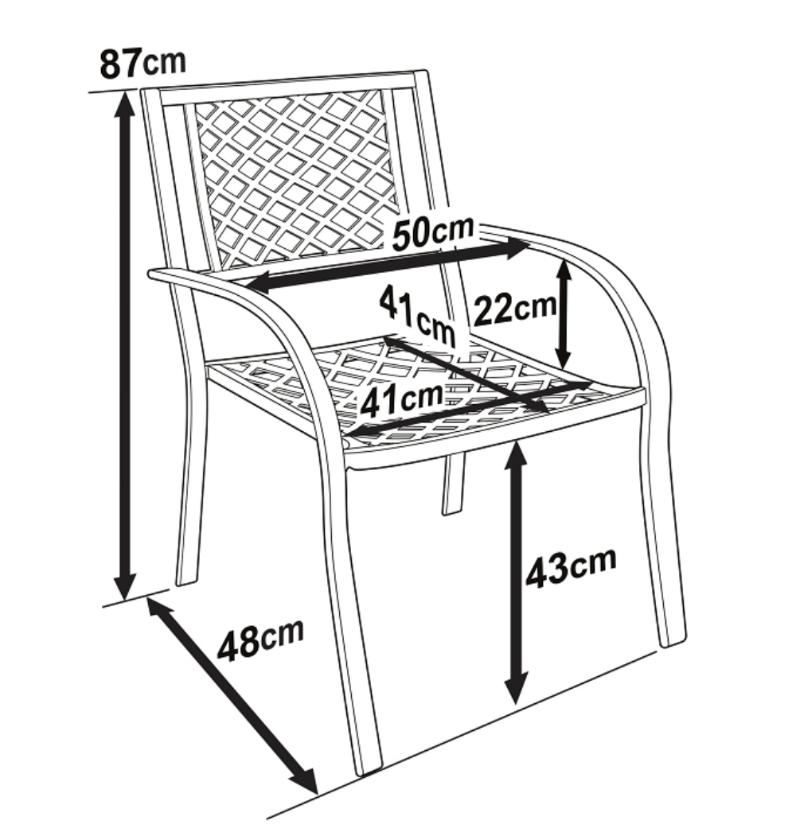Jane Garden Chair Dimensions