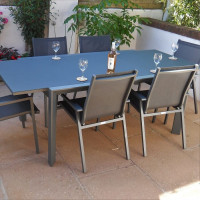Janine Table - Grey (6 seater set)