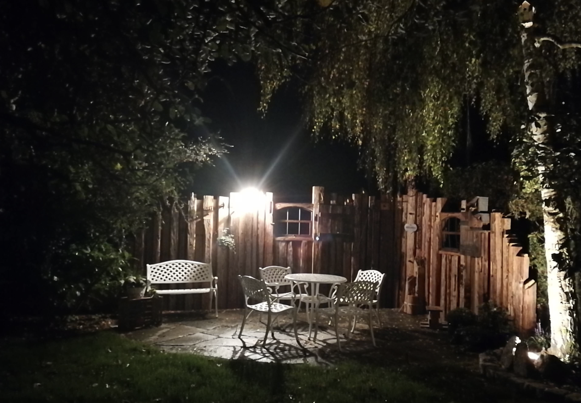 Garden lights will help to extend your party into the evening