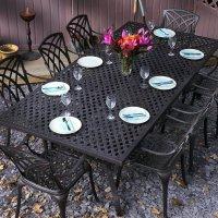 Madison Table - 8 Seater - Antique Bronze (IRREGULAR)