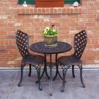 2 Seater Bistro Set - Antique Bronze