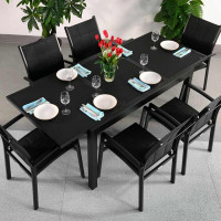 Daisy Table - Black (6 seater set)