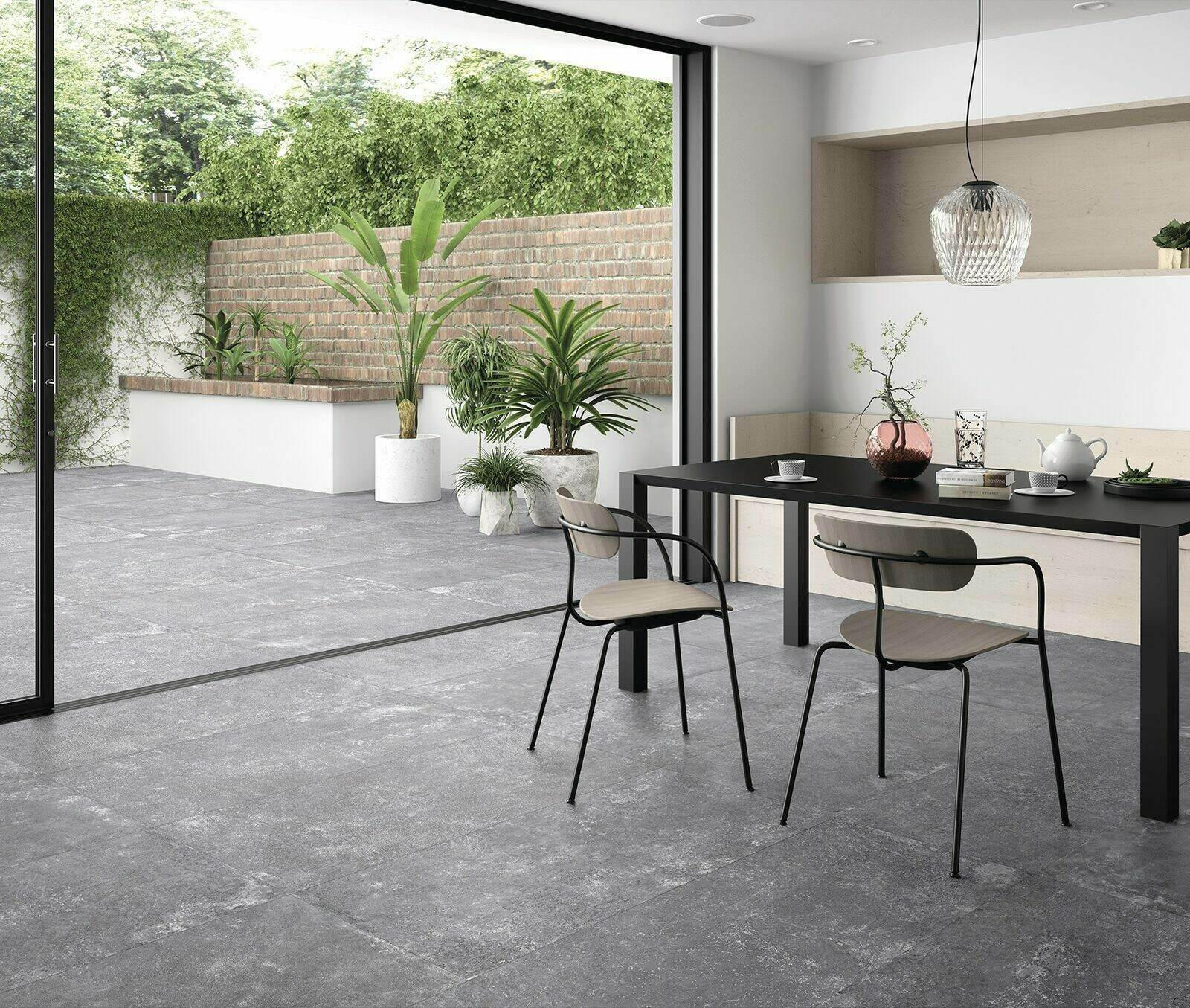 Grange Floor Tiles help to create a seamless transition between inside and out