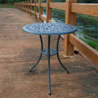 Tulip Bistro Table - Slate Grey