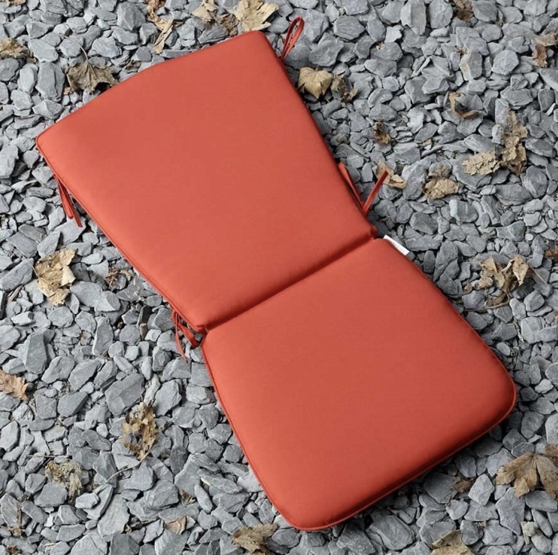 Curved Back Seat Cushion in Terracotta
