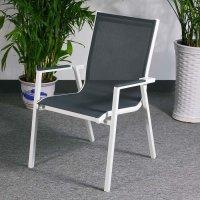 Abigail Chair - White & Grey