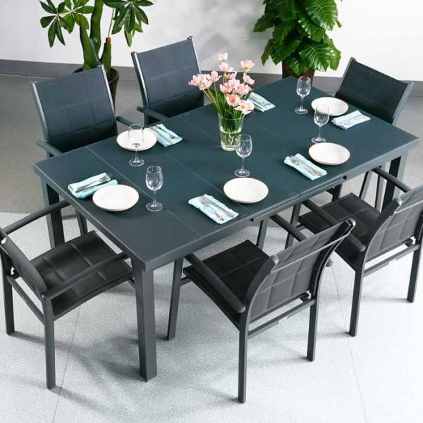 Modern_Grey_Large_Automatic_6_Seater_Extension_Dining_Table_Set_Metal_Glass_Top_Garden_Furniture_0