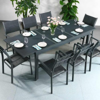 Florence Table - Grey (8 seater set)