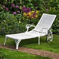 Amber Lounger - White