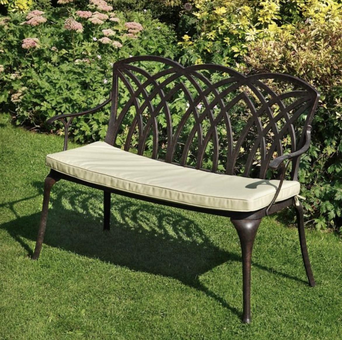 April Bench Cushion in Green