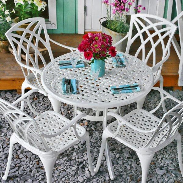 Hannah Table - White (4 seater set)