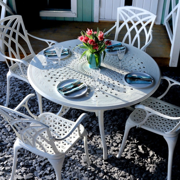 Amy Table - White (4 seater set)