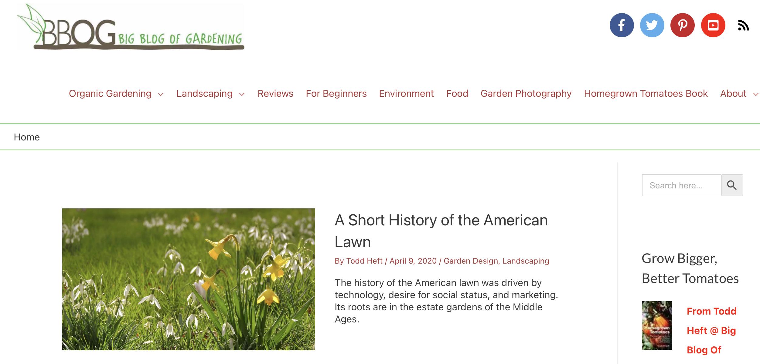 Big Blog of Gardening