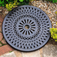 Lazy Susan Lattice 60cm - Antique Bronze