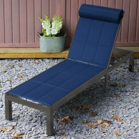 Michelle Lounger - Antique Bronze & Blue
