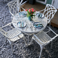 Flora Table - White (4 seater set)