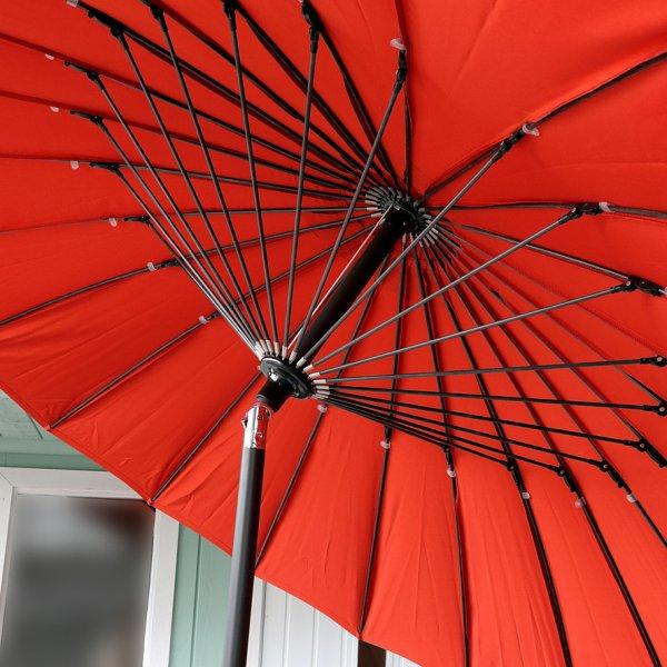 2.5m terracotta garden parasol 1