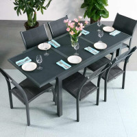 Daisy Table - Grey (6 seater set)
