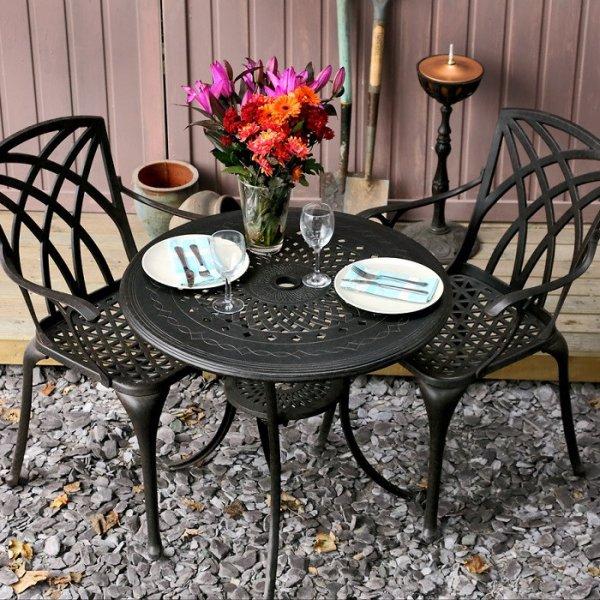 Anna Table - Antique Bronze (2 seater set)